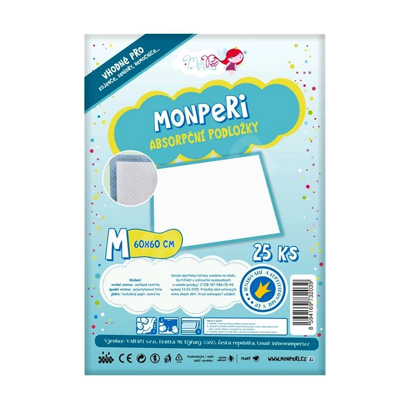 MonPeri Podložky vel. M (25 ks) - Přebalovací podložka