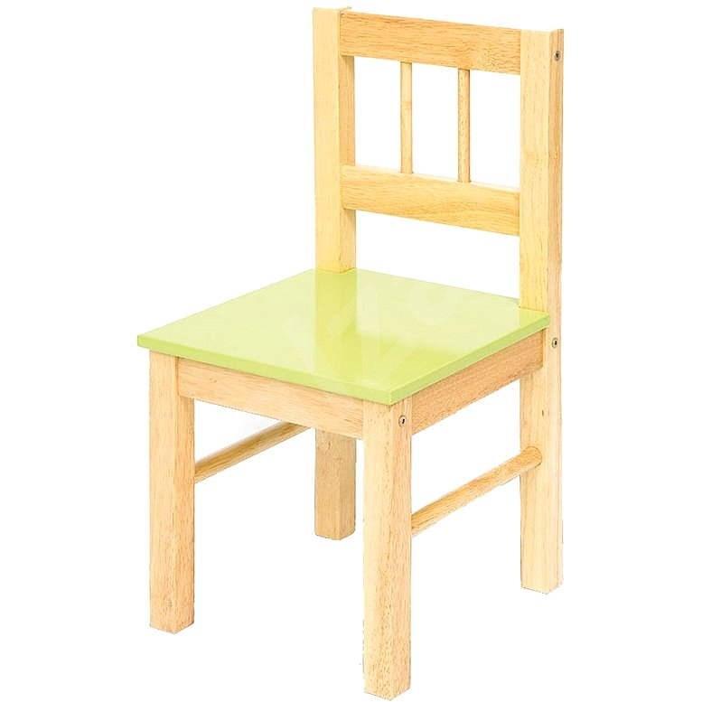 Dětská zelená dřevěná židle - Dětský nábytek