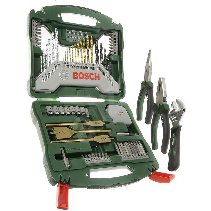 BOSCH X-Line 70Ti + pliers, 70pcs - Drill Set