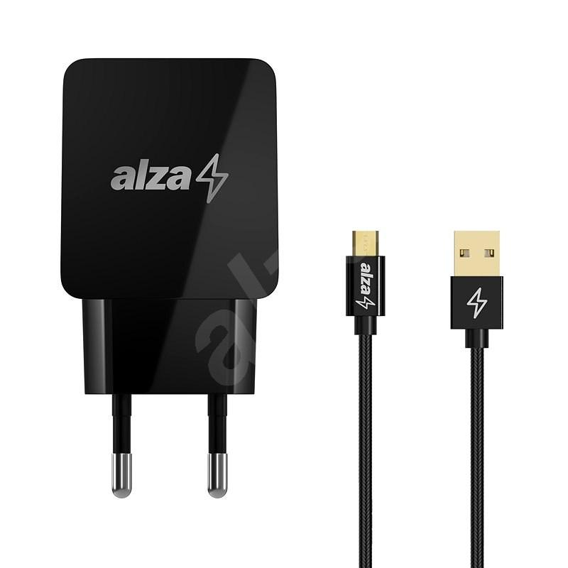 AlzaPower Q100 Quick Charge 3.0 + AlzaPower AluCore Micro USB 1m černý - Nabíječka do sítě