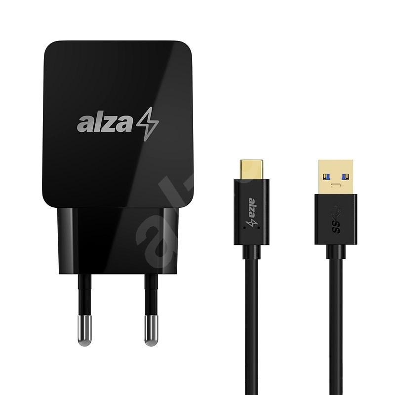 AlzaPower Q100 Quick Charge 3.0 + AlzaPower Core USB-C 3.2 Gen 1, 1m černý - Nabíječka do sítě