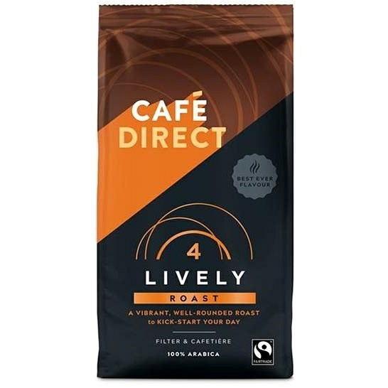 Cafédirect Lively mletá káva s tóny karamelu 227g  - Káva