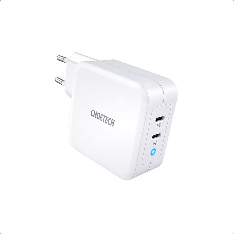 ChoeTech GaN Mini 100W Fast Charger White - Nabíječka do sítě