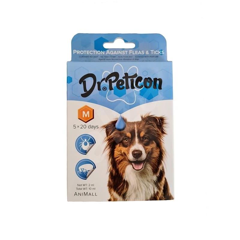 DR.Peticon Pipeta proti klíšťatům a blechám pro střední psy 5 × 2 ml - Antiparazitní pipeta
