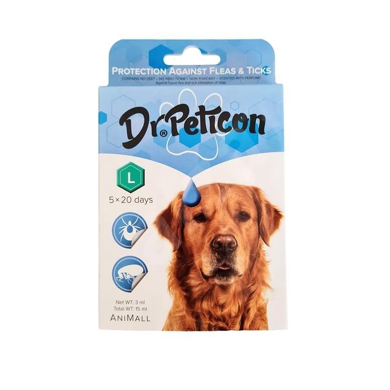 DR.Peticon Pipeta proti klíšťatům a blechám pro velké psy 5 × 3 ml - Antiparazitní pipeta