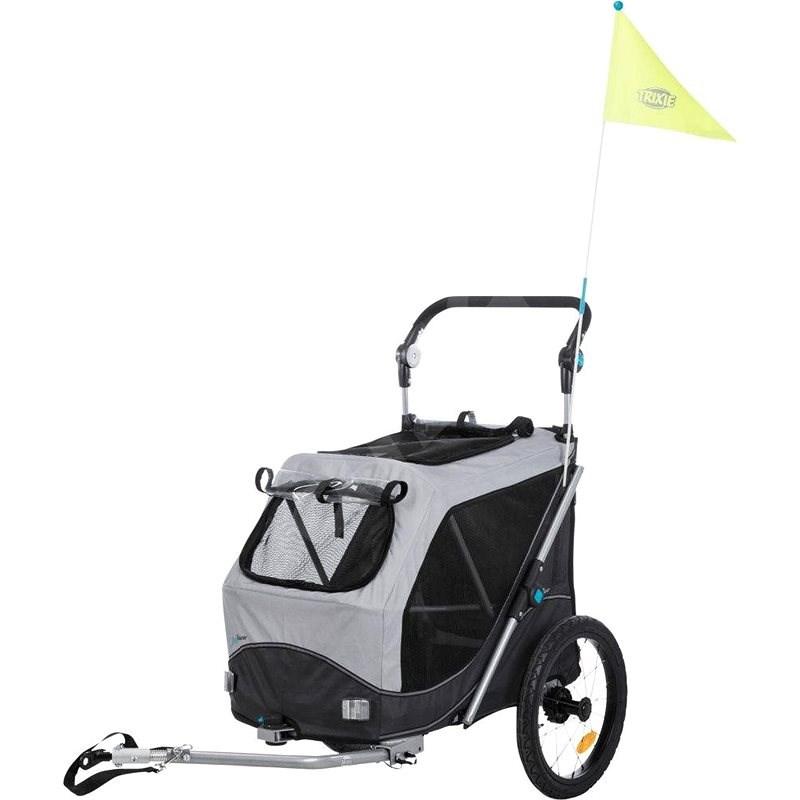 Trixie Vozík za jízdní kolo šedý 63 × 95 × 90/132 cm - Vozík za kolo