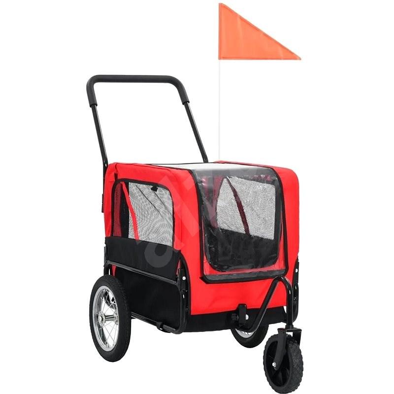 Shumee Vozík pro psa za kolo a na běhání 2v1 červeno-černý - Vozík za kolo