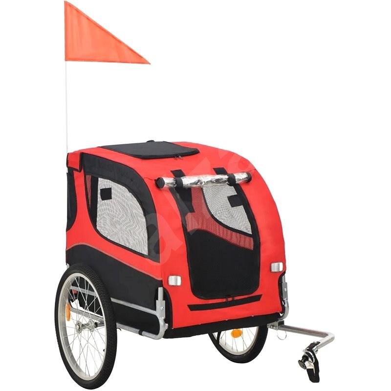 Shumee Vozík za kolo pro psa červeno-černý - Vozík za kolo