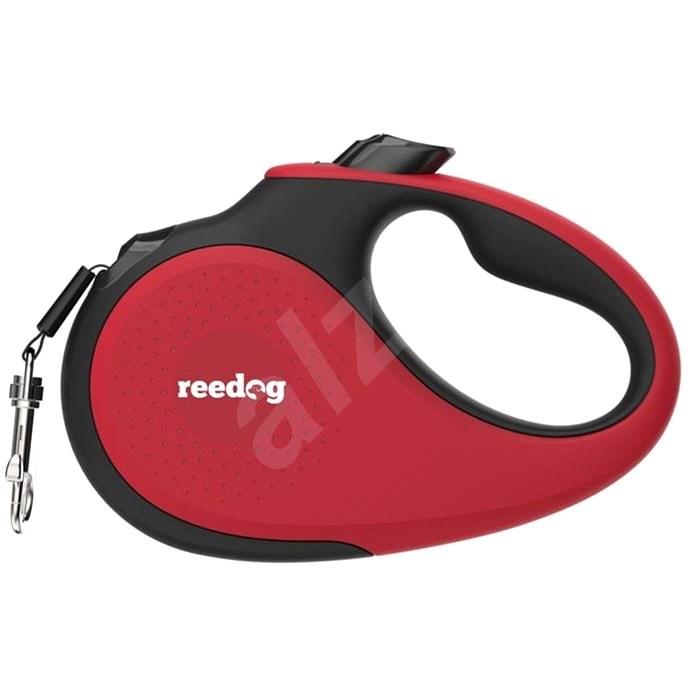 Reedog Senza Premium samonavíjecí vodítko L  50 kg / 5 m páska / červené - Vodítko