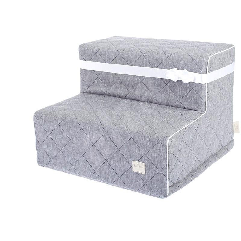 Easy Upp Gregory malé schůdky šedé 40 × 40 × 30 cm - Schůdky pro psy