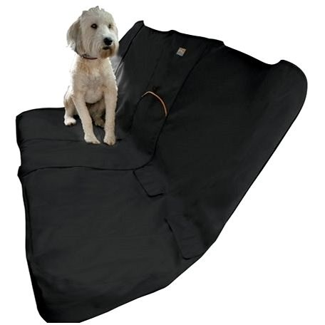 Kurgo Cover for Back Seats, Wander Bench Seat Cover, Black - Dog Car Seat Cover
