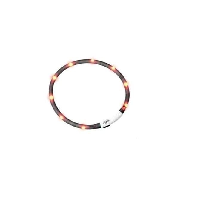 Flamingo LED světelný obojek pro kočky černý obvod 20-35cm - Obojek pro kočky