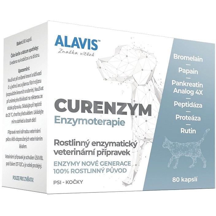 Alavis CURENZYM Enzymoterapie 80 kapslí - Doplněk stravy pro psy
