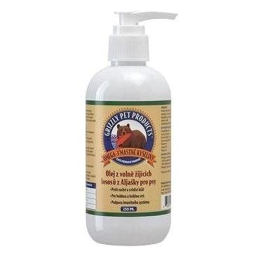 Lososový olej pes/kočka Grizzly Wild Salmon 125ml - Doplněk stravy pro psy