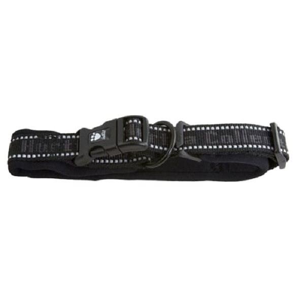 Obojek Hurtta Padded černý 55-65cm/40mm - Obojek pro psy