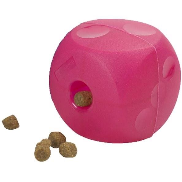 BUSTER Soft Cube purpurová 14 cm - Hračka pro psy