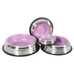 Miska nerez protiskluz pes MERENDA 1,8l růžová Zolux - Miska pro psy