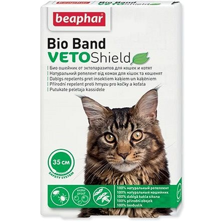 BEAPHAR Repellent Collar Bio Band for Cats 35cm - Antiparasitic Collar
