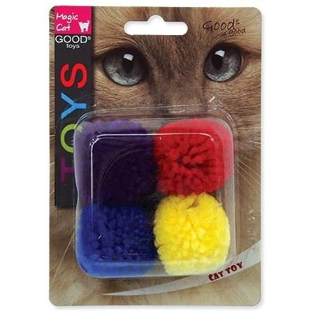 MAGIC CAT hračka míček bavlna s catnip 3,75 cm 4 ks - Míček pro kočky