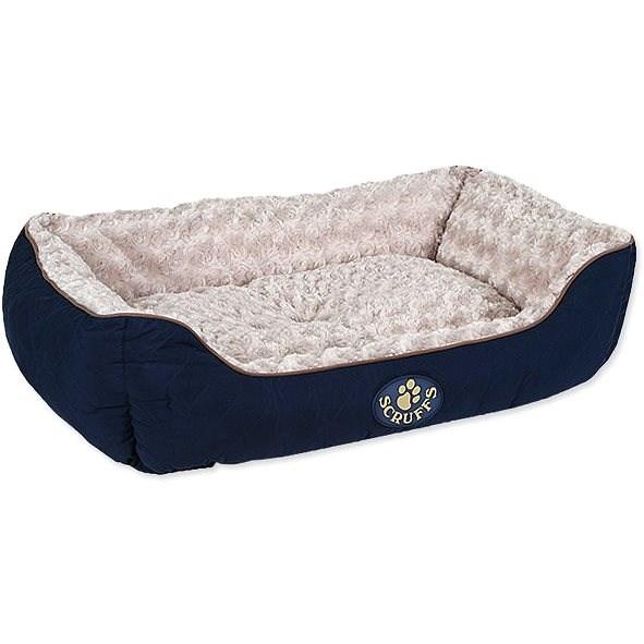 SCRUFFS Wilton box bed L 75×60cm modrý - Pelíšek