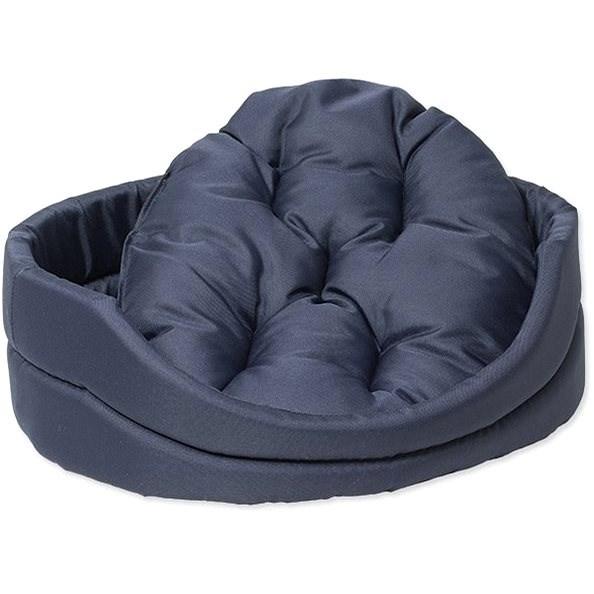 DOG FANTASY pelech oval s polštářem 42×34×14cm tmavě modrý - Pelíšek pro psy