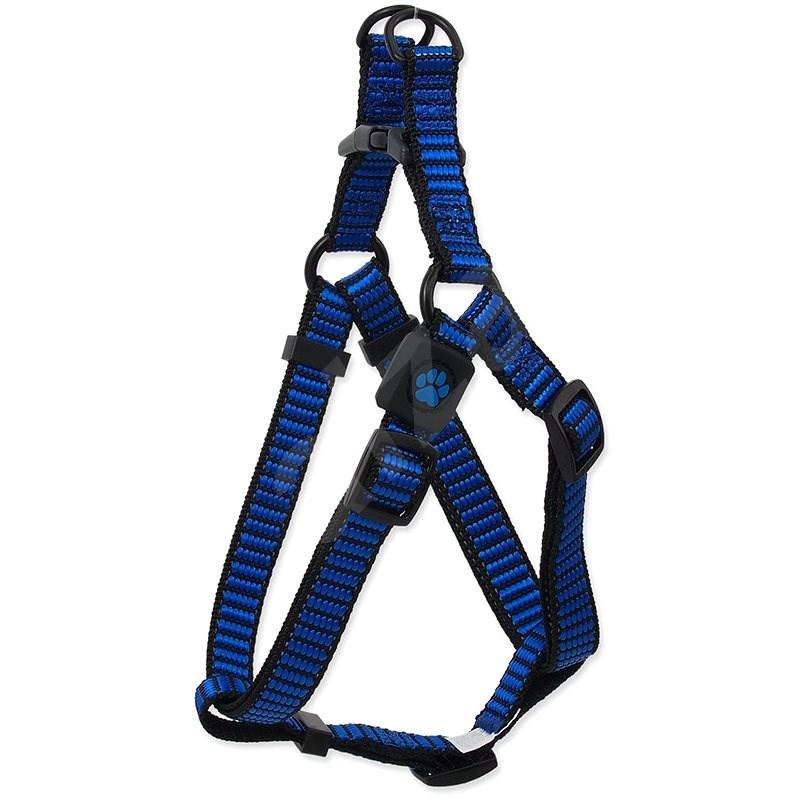 ACTIVE postroj premium M modrý 2×53-77cm - Postroj pro psa