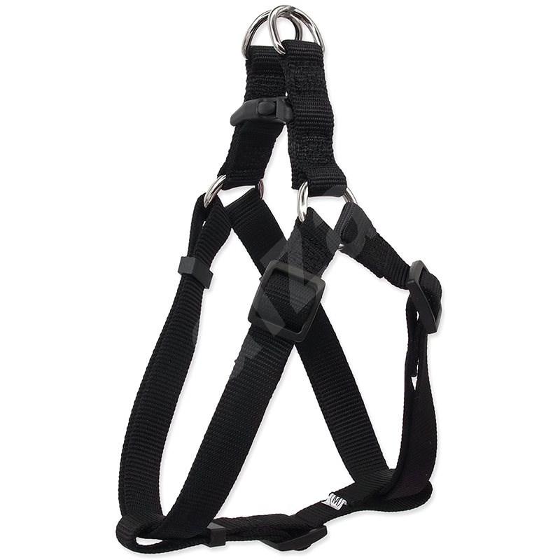 DOG FANTASY postroj classic M černý 2×53-77cm - Postroj pro psa