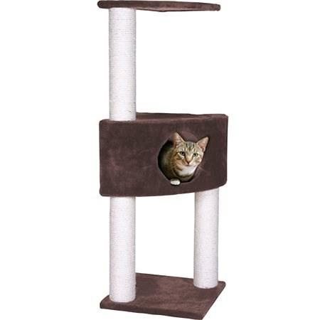 MAGIC CAT odpočívadlo Irena 35×35×109cm hnědé - Škrabadlo pro kočky
