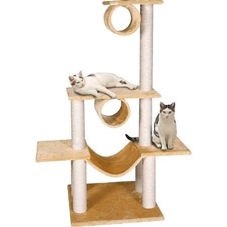 MAGIC CAT odpočívadlo Iveta 103×57×141cm béžové - Škrabadlo pro kočky