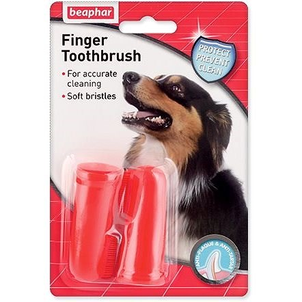 Beaphar Dog-A-Dent Toothbrush on Finger - Dog Toothbrush