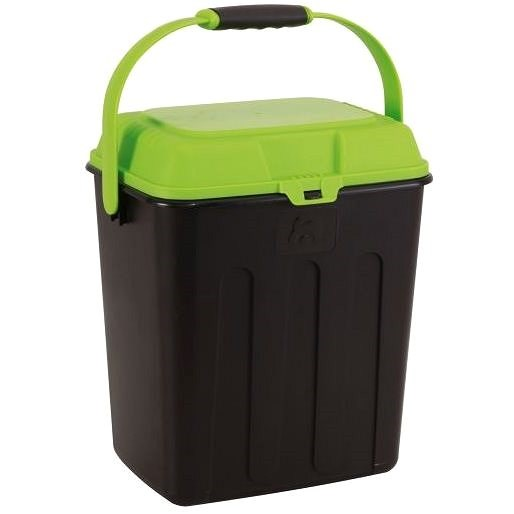 Maelson Box na granule pro 3,5 kg krmiva - černo-zelený - 27× 22× 31 cm - Barel na granule
