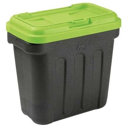 Maelson Box na granule pro 7,5 kg krmiva - černo-zelený - 41× 25× 33 cm - Barel na granule