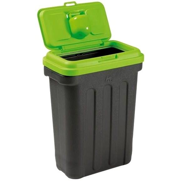 Maelson Box na granule pro 15 kg krmiva - černo-zelený - 41× 25× 56 cm - Barel na granule