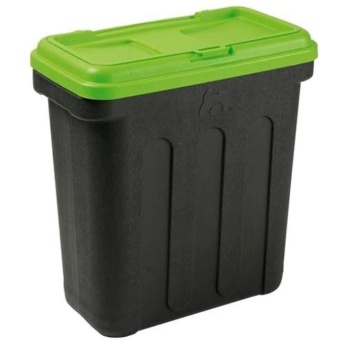 Maelson Box na granule pro 20 kg krmiva - černo-zelený - 54× 31× 58 cm - Barel na granule