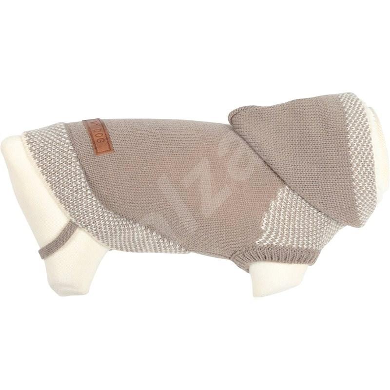 Zolux Svetr s kapucí pro psy HIPSTER béžová 30cm  - Svetr pro psy