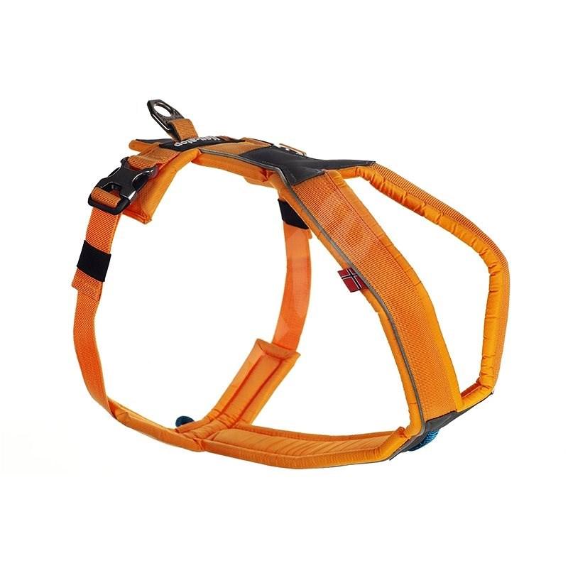 Non-stop dogwear postroj Line 7, oranžová - Postroj