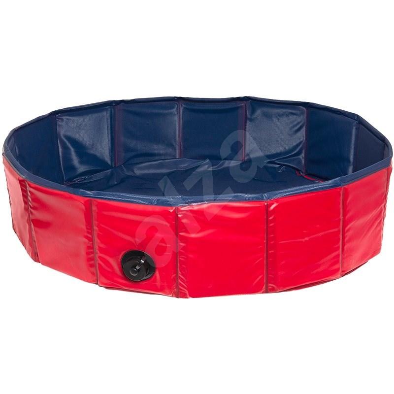 Karlie Skládací bazén pro psy modro/červený 120 × 30 cm - Bazén pro psy
