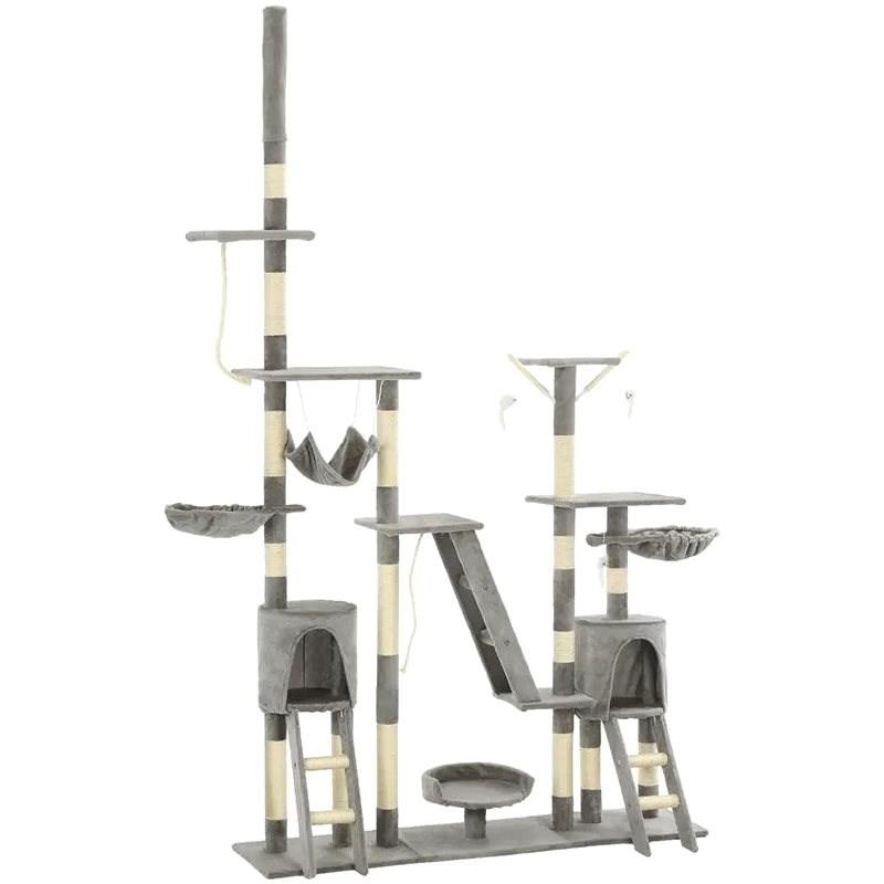 Shumee Škrabadlo se sisalovými sloupky šedé 230–250 cm - Škrabadlo pro kočky