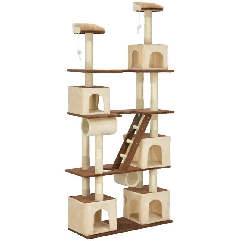 Shumee Škrabadlo se sisalovými sloupky béžovo-hnědé 225 cm - Škrabadlo pro kočky