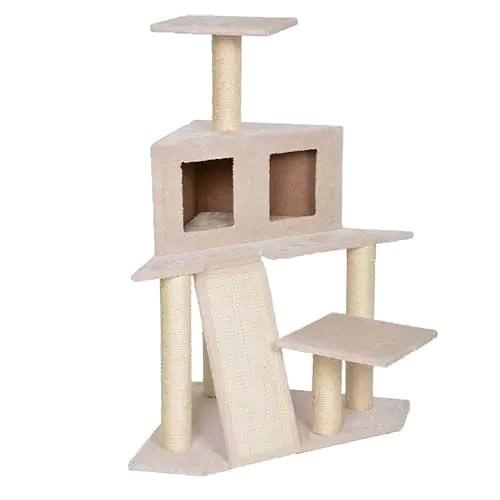 DUVO+ Škrábací strom Annette 60 × 60 × 103,5 cm     - Škrabadlo pro kočky
