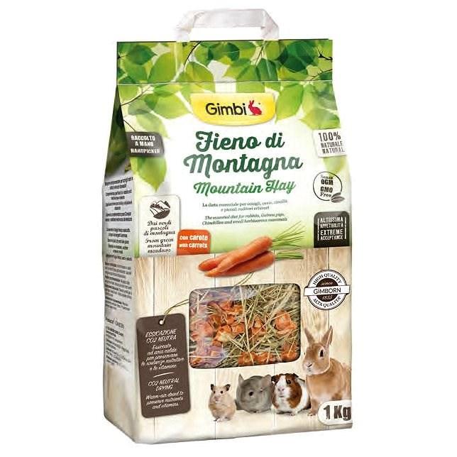 Gimborn Horské seno s mrkví 1 kg - Krmivo pro hlodavce