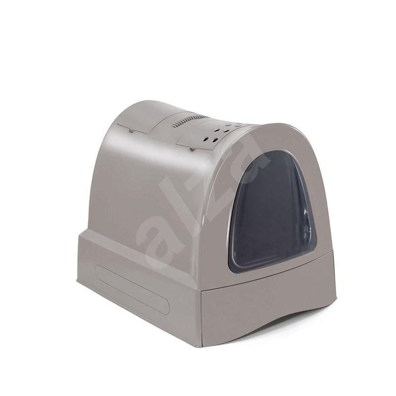 IMAC Krytý kočičí záchod s výsuvnou zásuvkou 40 × 56 × 42,5 cm šedý - Kočičí toaleta