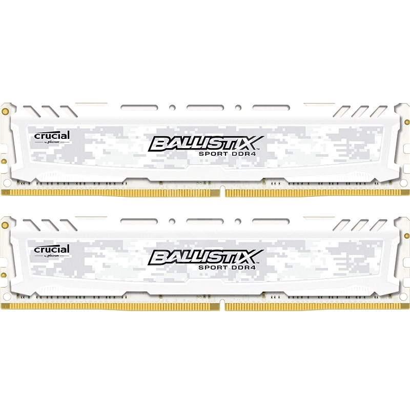 Crucial 16GB KIT DDR4 2400MHz CL16 Ballistix Sport LT Single Ranked White - Operační paměť