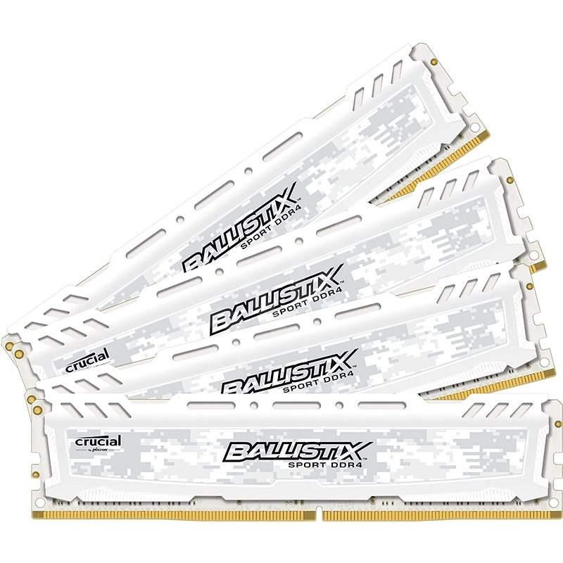 Crucial 32GB KIT DDR4 2666MHz CL16 Ballistix Sport LT White - Operační paměť