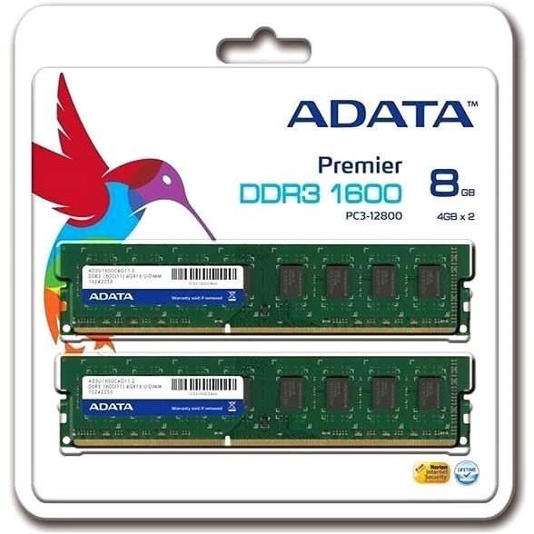 ADATA 8GB KIT DDR3 1600MHz CL11 - Operační paměť