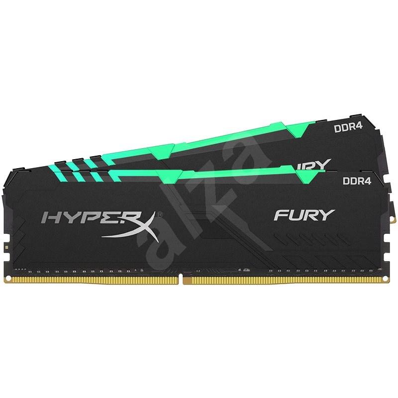 HyperX 16GB KIT DDR4 2666MHz CL16 RGB FURY series - Operační paměť