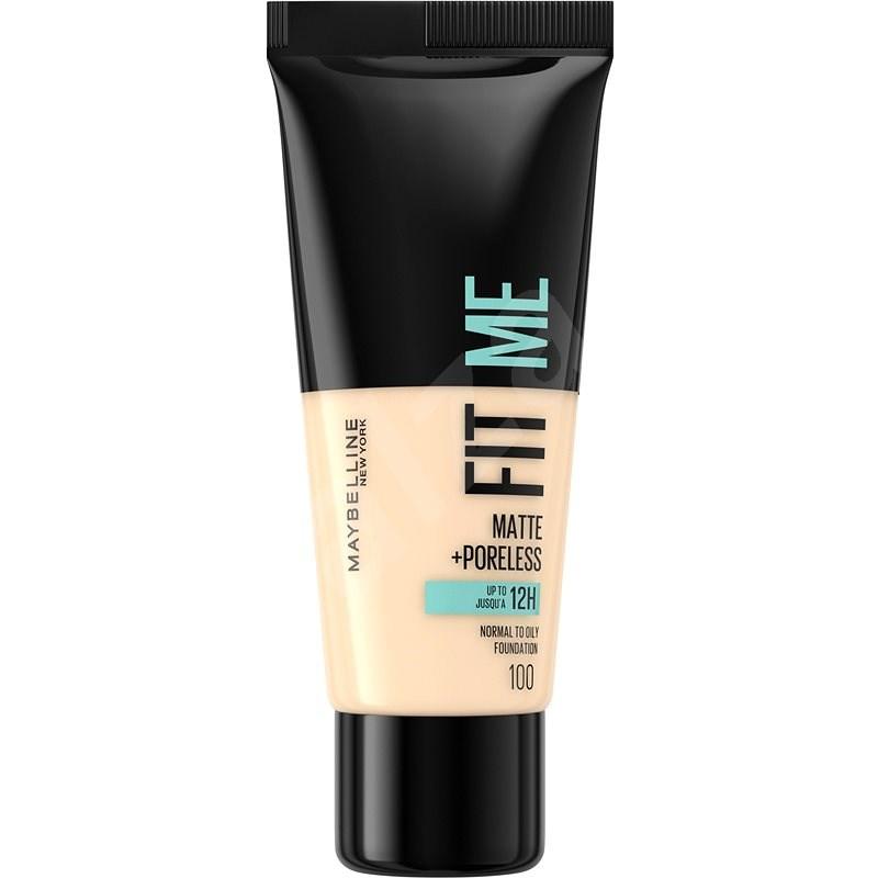 MAYBELLINE NEW YORK Fit Me! Matte & Poreless Foundation 100 Warm Ivory 30 ml - Make-up