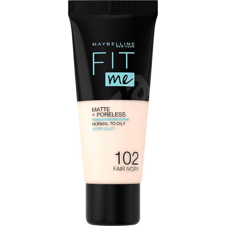MAYBELLINE NEW YORK Fit Me! Matte & Poreless Foundation 102 Fair Ivory 30 ml - Make-up