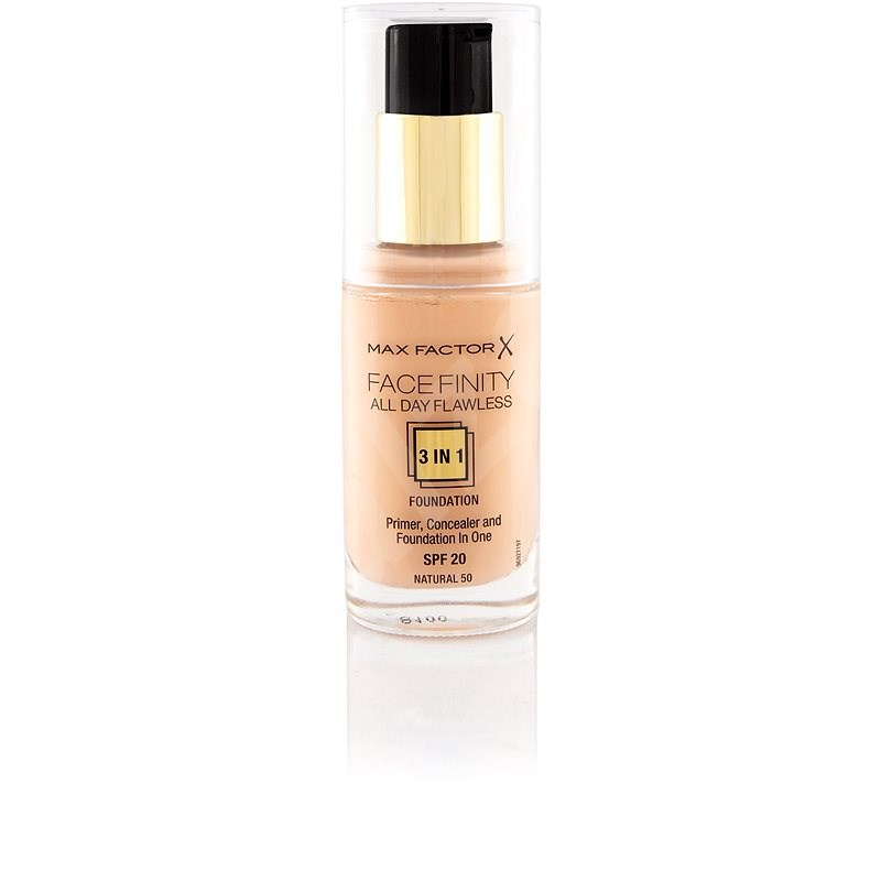 MAX FACTOR Facefinity All Day Flawless 3in1 Foundation SPF20 50 Natural 30ml - Make-up