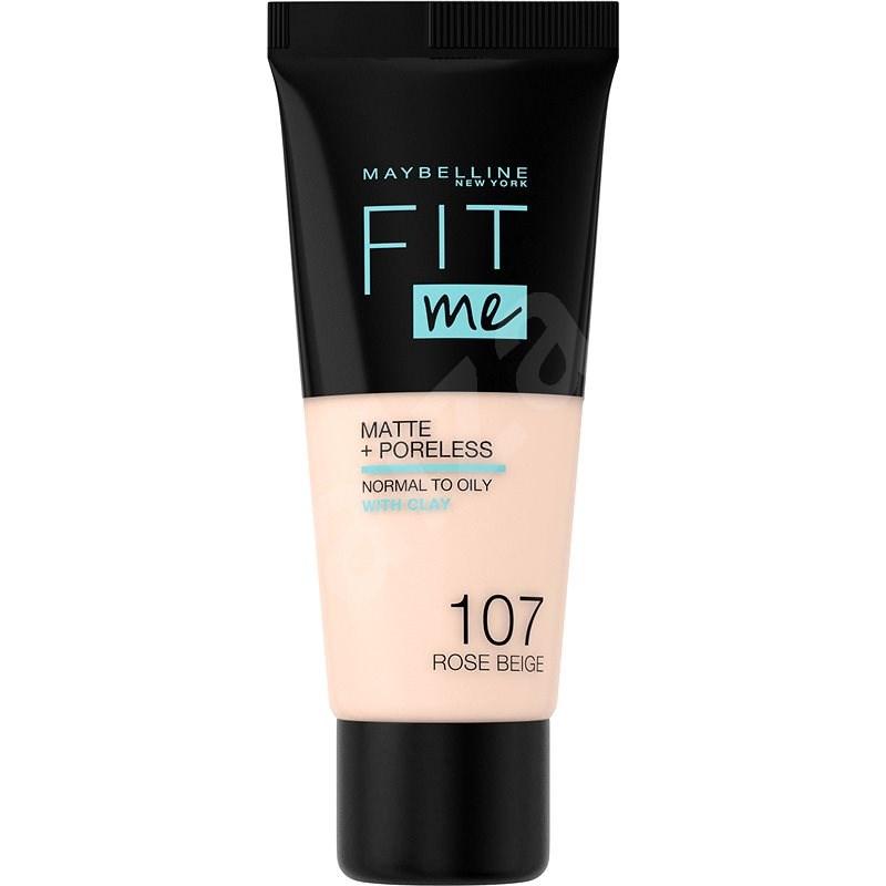 MAYBELLINE NEW YORK Fit Me! Matte & Poreless Foundation 107 Rose Beige 30 ml - Make-up